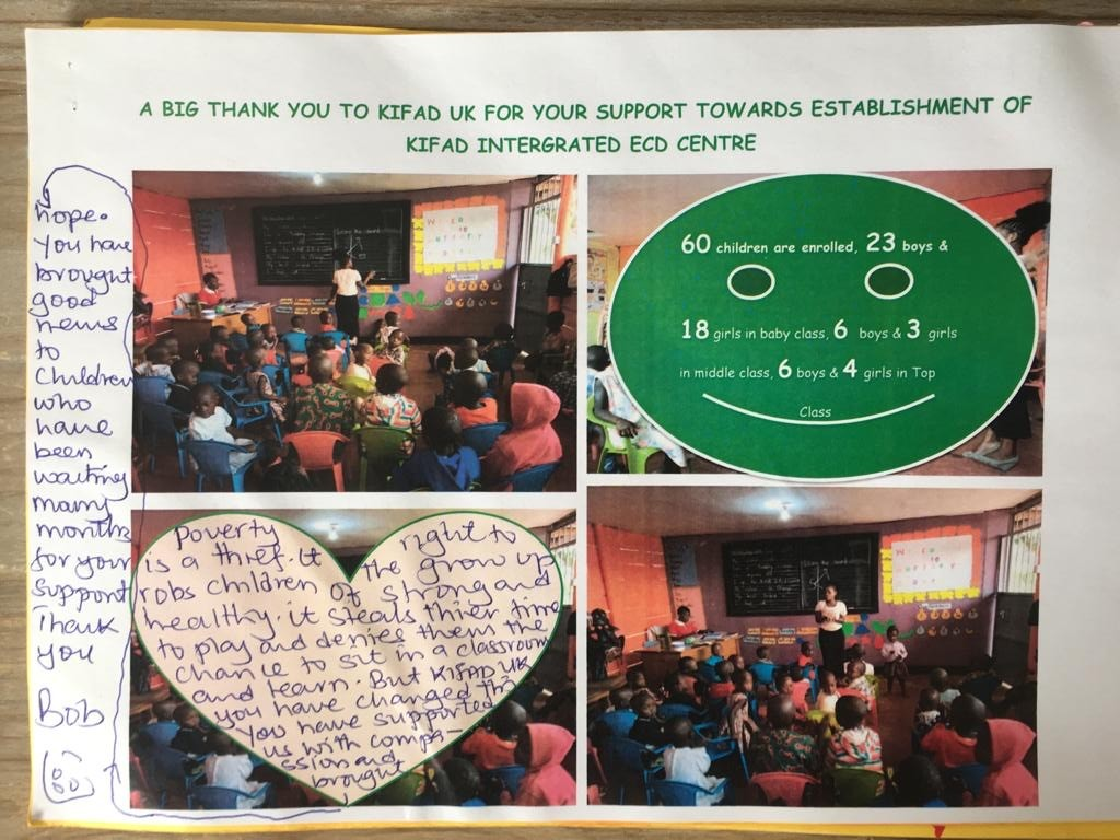 Letters of thanks to KIFAD UK